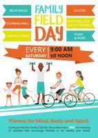 Familien-Fitness-Vorlage