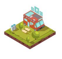 Isometrische Zusammensetzung für Wohnmobile vektor