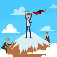 Erfolgreiches Karriere-Konzept vektor