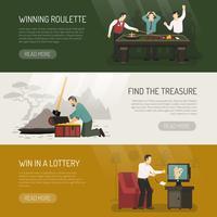 Glücksspiel Banner gesetzt vektor