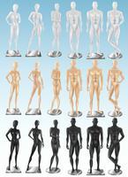 Mannequins 3 Color Realistic Sets vektor