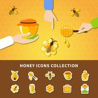 Honung och händer Sammansättning vektor