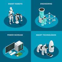 Artificiell intelligens ikonuppsättning