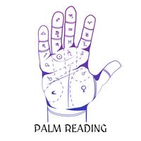 chiromancy designkoncept med mänsklig palm vektor