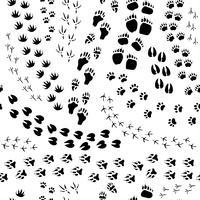 djurspår sömlöst mönster