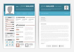 Lebenslauf-Webseiten-Illustration vektor