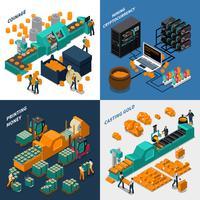 Industrielles isometrisches Konzept
