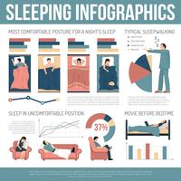 Sleeping Infographics Layout