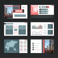 urban presentation templates set vektor