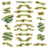 Dekorativa Ribbons Set vektor