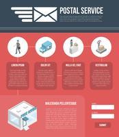 Website-Designvorlage für Post vektor