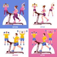 fitness designkoncept vektor