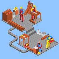 Holzwerkstoff-Zusammensetzung vektor