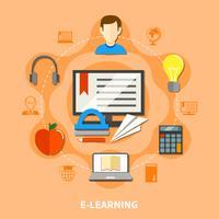 E Lärande färgad sammansättning vektor