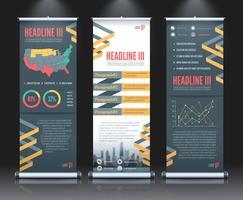 Rollup Banner Set Vorlage vektor