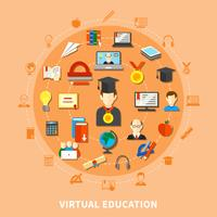 virtuell utbildningssammansättning vektor