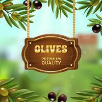 Premium-Oliven Hintergrund vektor