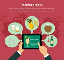 Cocktail Recept Mall vektor
