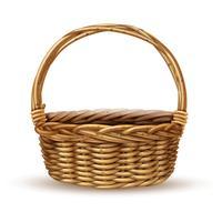 Basket Realistische Seitenansicht Bild vektor