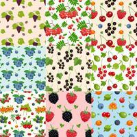 Satz von neun nahtlosen Beeren-Mustern