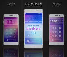 Smartphones sperren Bildschirmdesigns vektor