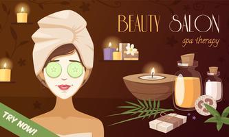 Spa Beauty Salon Cartoon Vorlage
