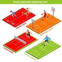 sport isometrisk koncept vektor
