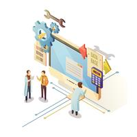 Datenbank-isometrische Illustration