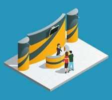 Utställningsfrämjande ställningskomposition vektor