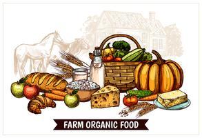 Ökologisches Bauernhof-Plakat vektor