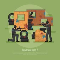 Paintball-Schlacht-Illustration vektor