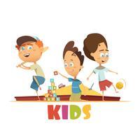 Spelar barnkoncept