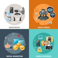 sociala medier koncept vektor