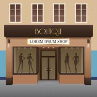 boutique byggnad illustration