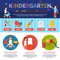 Kindergarten Infographik Set vektor