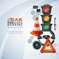 Auto-Service-Hintergrund vektor