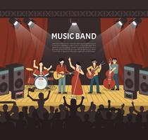 Popmusikband vektor illustration