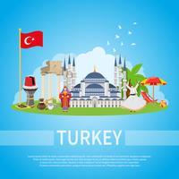 Türkei flache Zusammensetzung vektor