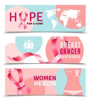 Brustkrebs-Banner vektor