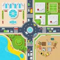 Plakat der Draufsicht-Stadt