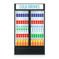 Vertikale Kühlschrank Vorlage