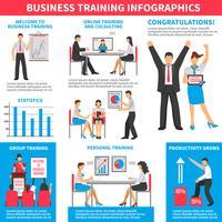 Geschäftstraining Infografiken vektor
