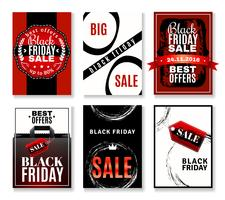 Black Friday Sale Flyer-Kollektion vektor