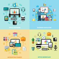 Konzept des Büroarbeitsplatz-2x2