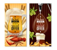Dark Light Beer 2 Vertikal Banners Set