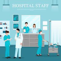 Vorlage für medizinisches Personal vektor