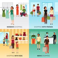 Einkaufskonzept Icons Set