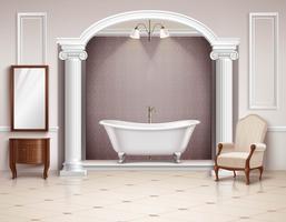 Badezimmer Interieur realistisches Design vektor