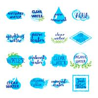 Wasser Retro Labels Set