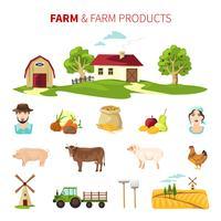 jordbruksuppsättning vektor